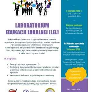 Laboratorium Edukacji Lokalnej – LGD – Przyjazne Mazowsze zaprasza na spotkanie
