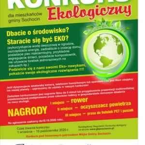 Rodzinny konkurs ekologiczny dla mieszkańców gminy Sochocin