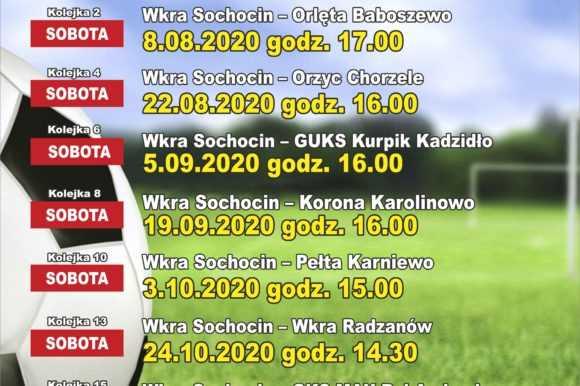 Terminarz meczów GKS Wkra Sochocin – runda jesienna sezonu 2020/2021