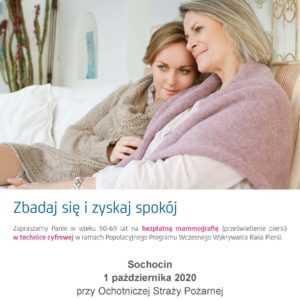 Bezpłatne badania mammograficzne w Sochocinie