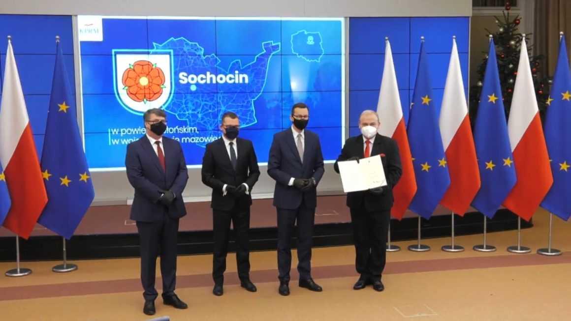 Wraz z Nowym Rokiem Sochocin odzyskuje prawa miejskie. Akt nadania statusu miasta oficjalnie wręczony