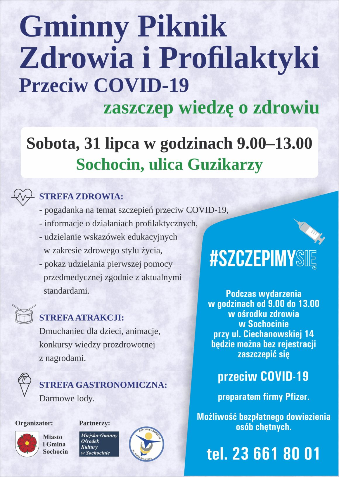 Gminny piknik zdrowia i profilaktyki przeciw COVID-19