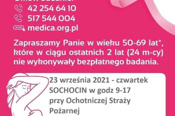 23 września przy budynku OSP Sochocin czekać będzie mammobus