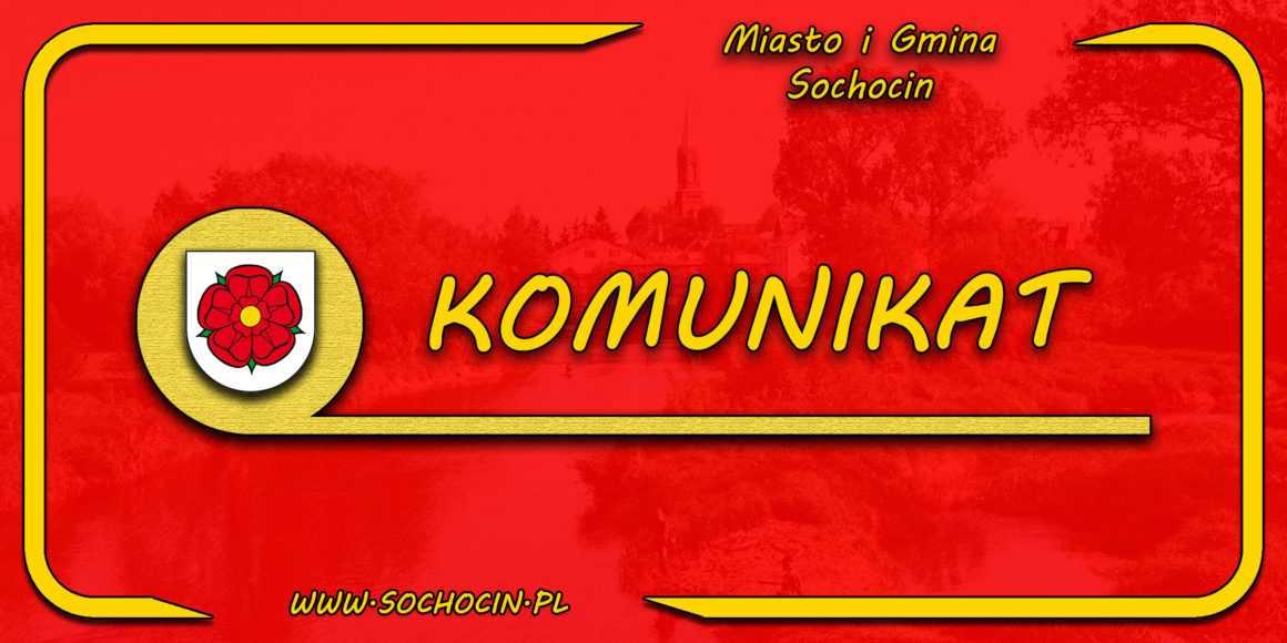 Termin i porządek obrad najbliższej sesji Rady Miejskiej w Sochocinie